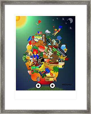 Wagon Of Toys Framed Print by Bob Winberry