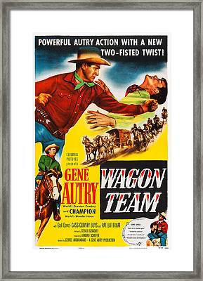 Wagon Team, Us Poster Art, Gene Autry Framed Print by Everett