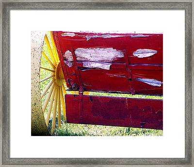 Framed Print featuring the photograph Wagon by Tom Romeo