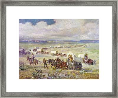 Wagon Trail Framed Print