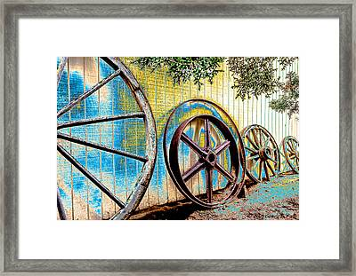 Framed Print featuring the photograph Wagon Wheel Art by Beverly Parks