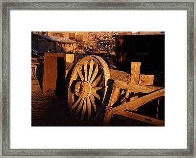 Wagon Wheel - Calico Framed Print by Michael Hope