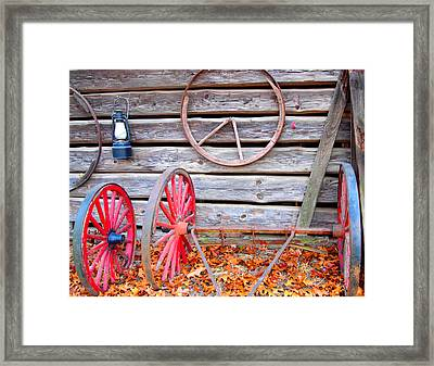 Wagon Wheel Framed Print by Dan Sproul