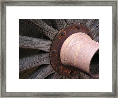 Framed Print featuring the photograph Wagon Wheel by Diane Alexander