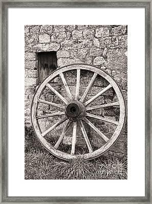 Wagon Wheel Framed Print