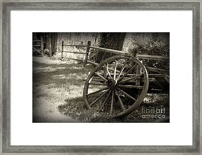 Wagon Wheel  Framed Print by Paul Ward