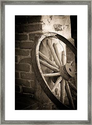 Wagon Wheel Framed Print by Peter Tellone