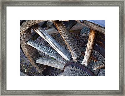 Wagon Wheel Sundown Framed Print by Michael Hope