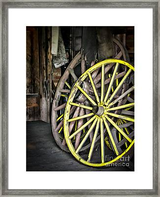 Wagon Wheels Framed Print by Colleen Kammerer