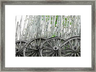 Wagon Wheels Framed Print by Michelle Frizzell-Thompson