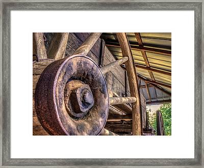 Wagon Wheels Framed Print by Rob Sellers
