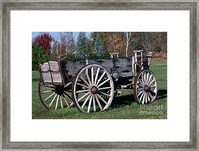 Wagon Wheels Framed Print by Skip Willits