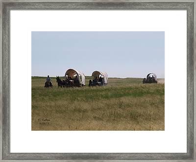 Wagons Ho Framed Print