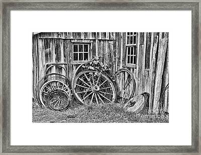Wagons Lost Framed Print by Crystal Nederman