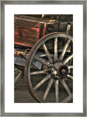 Wagonwheel Framed Print