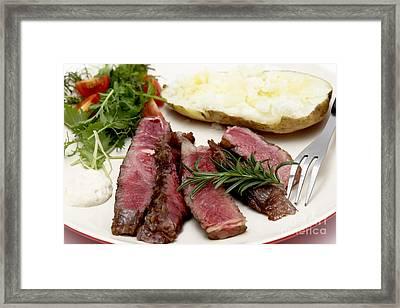 Wagyu Ribeye Dinner Closeup Framed Print