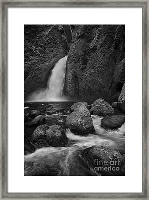 Wahclella Falls Framed Print by Keith Kapple