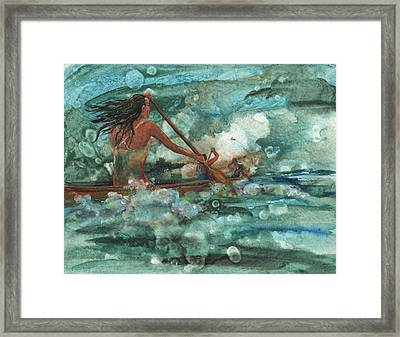 Wahines Of The Waves Framed Print