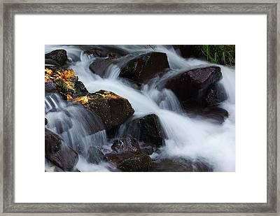 Wahkeena Creek Detail 1 Framed Print by Ken Dietz