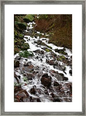 Wahkeena Falls Framed Print by Cari Gesch