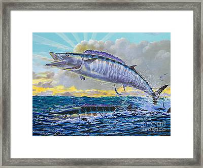 Wahoo Sunrise Off0064 Framed Print by Carey Chen