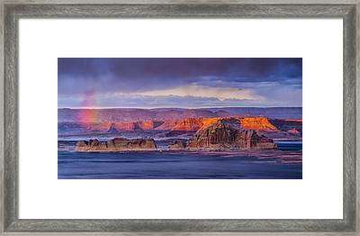 Wahweap Sunset Framed Print