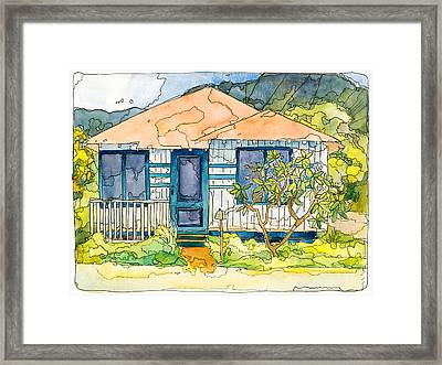 Waianae House Framed Print by Stacy Vosberg
