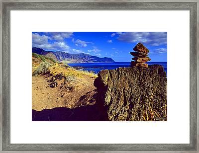 Framed Print featuring the photograph Waianae Mountain Range From Kaena Point by Aloha Art