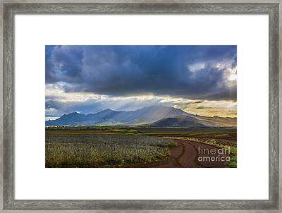 Waianae Mountains Of Oahu Hawaii Framed Print
