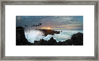 Waikaloa Mana Framed Print by Sean Davey