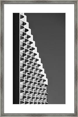 Waikiki Hotel With A Wave Framed Print by Tin Lung Chao