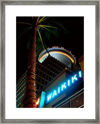 Waikiki Nightlife Framed Print by Kara  Stewart