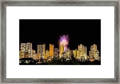 Waikiki Party 4 Framed Print by Jason Chu