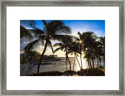 Waikoloa Sunset Framed Print