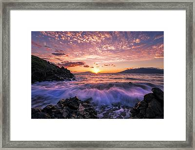Wailea Glow Framed Print by Hawaii  Fine Art Photography