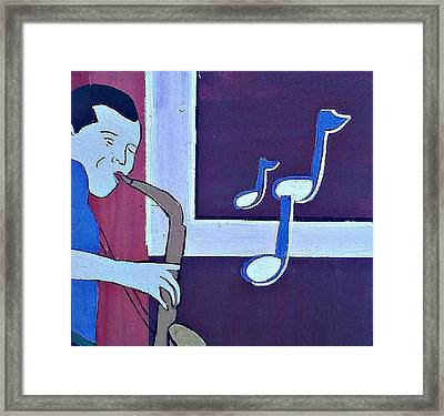 Wailing Framed Print by Lew Griffin
