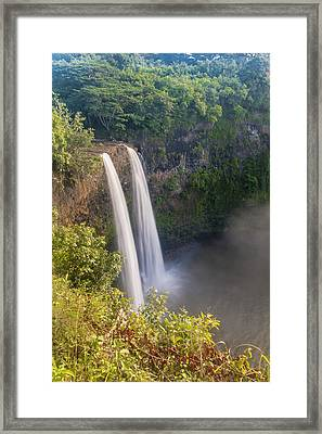 Wailua Falls - Kauai Hawaii Framed Print by Brian Harig