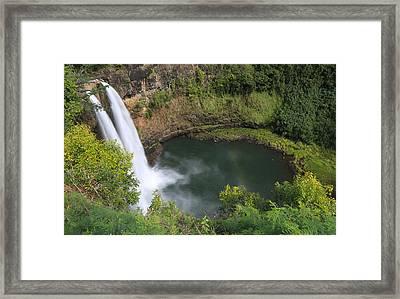 Wailua Falls Kauai Hawaii Framed Print by Sam Amato