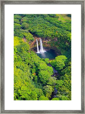 Wailua Falls - Kauai Framed Print