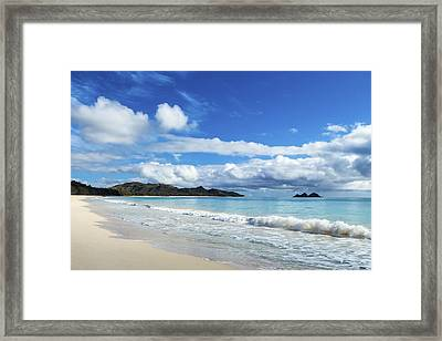Waimanalo And Bellows Beach 1 Framed Print