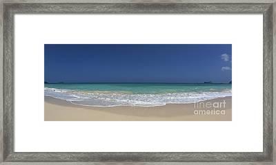Waimanalo Beach Framed Print by Anthony Calleja