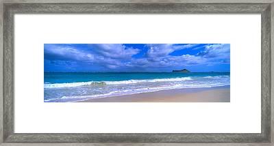 Waimanalo Beach Park Manana Island Oahu Framed Print