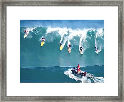 Waimea Bay Lifeguard Framed Print