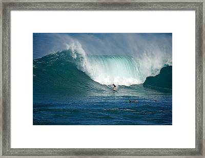Waimea Bay Monster Framed Print by Kevin Smith