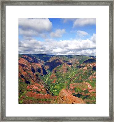 Waimea Canyon Framed Print by Amy McDaniel