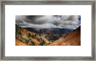 Waimea Canyon Lookout Panorama Framed Print by Douglas Barnard