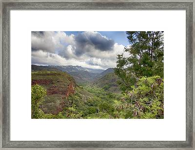 Waimea Canyon Lookout V3 Framed Print by Douglas Barnard