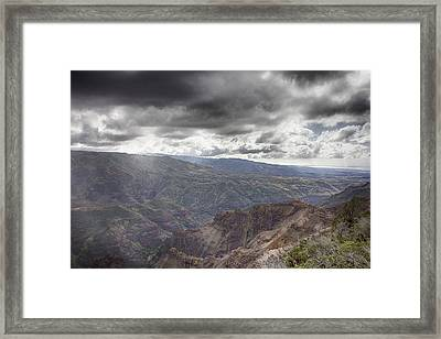 Waimea Canyon Lookout V4 Framed Print by Douglas Barnard