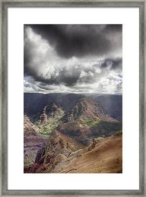 Waimea Canyon Lookout V5 Framed Print by Douglas Barnard