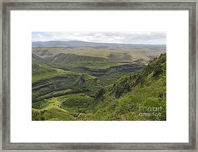 Waimea Canyon Framed Print by Sami Sarkis